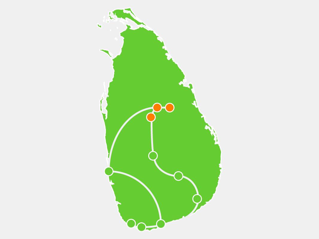 Sri Lanka Itinerary Tour Map Polonnaruwa, Sigiriya, Dambulla