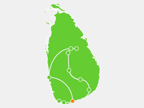 Sri Lanka Itinerary Tour Map Tangalle