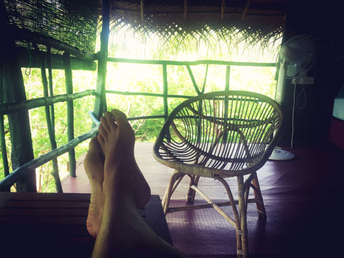 Relaxing at Treehouse Beddegama Ecopark Kataragama