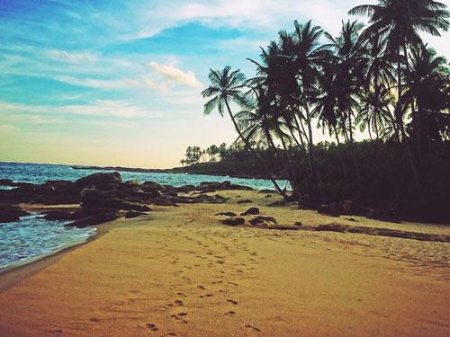 Goyambaka Beach Tangalle Footsteps