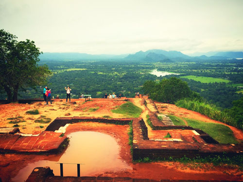 Ruins Sigiriya Rock Top