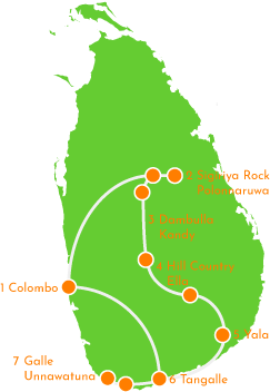 Interactive Sri Lanka Itinerary