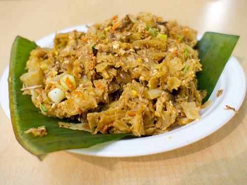 Plate of traditional Sri Lankan Kottu Rotti