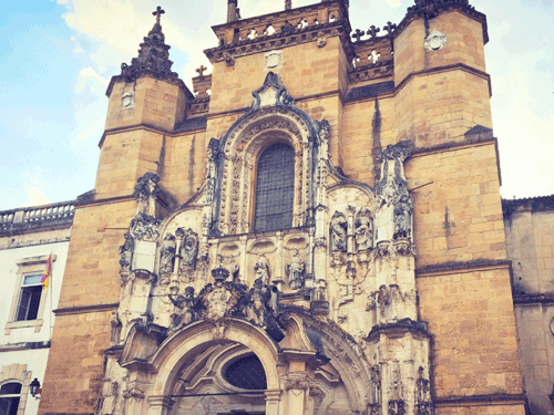 Front of old cathedral of Coimbra