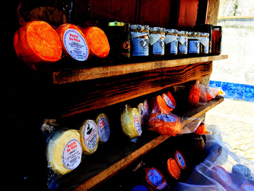 Portuguese cheese store in Obidos