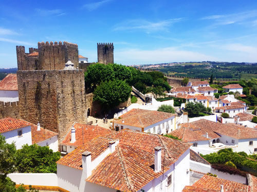View over Obidos village with Castle
