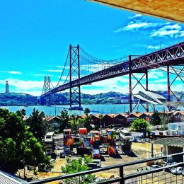 Travel Report Lisbon at 25 April Bridge from LxFactory