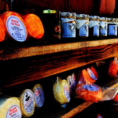Food on local market in Obidos Portugal