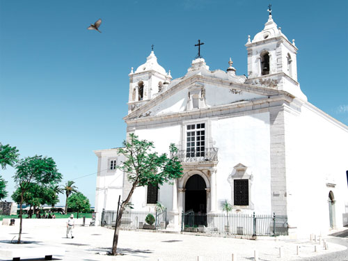 Church in the old town of Lagos