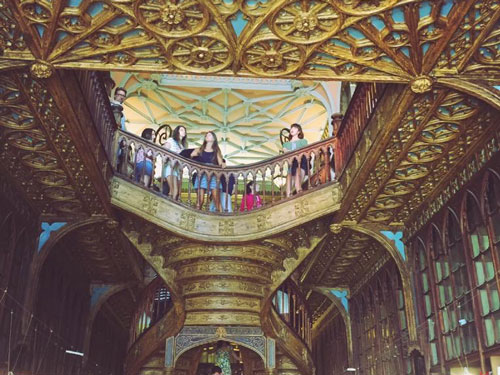 Interior of Livraria Lello in Porto was inspiration for Harry Potter