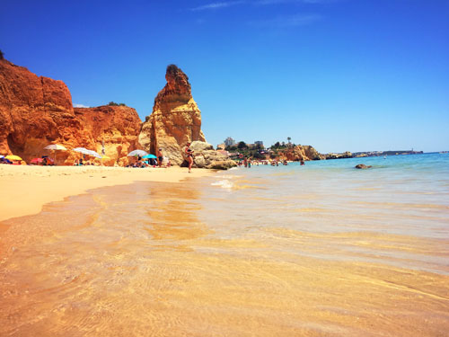 Red rock beach in Portimao