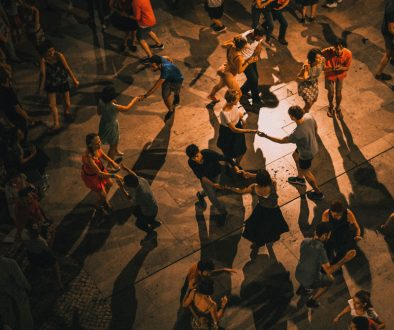 Dancing people during festivals and events in Portugal